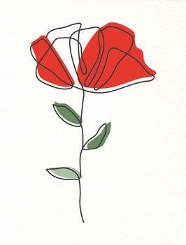 Affiche Style Line Art Vegetal 8