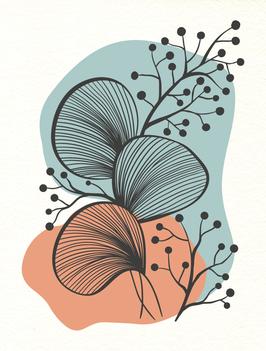 Affiche Style Line Art Vegetal 2