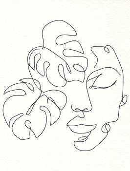 Affiche Style Line Art Femme 5
