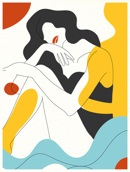 Affiche Style Line Art Femme 3