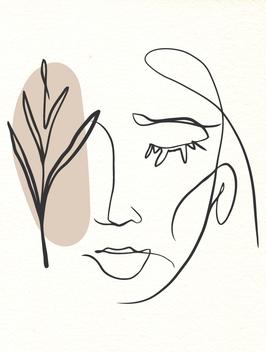 Affiche Style Line Art Femme 10