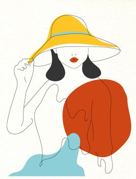 Affiche Style Line Art Femme 2