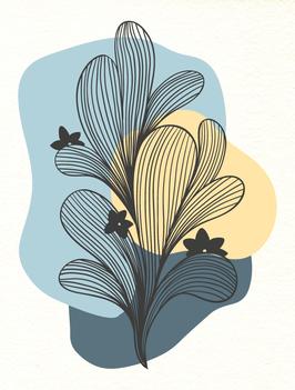 Affiche Style Line Art Vegetal 5