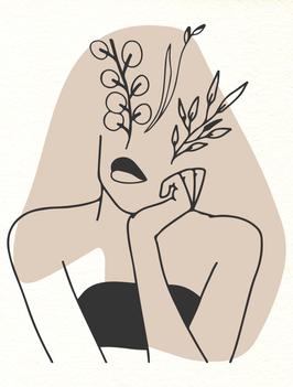 Affiche Style Line Art Femme 11
