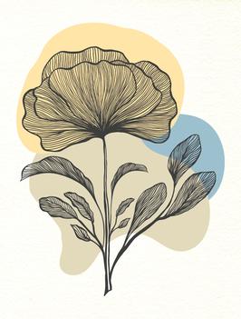 Affiche Style Line Art Vegetal 3