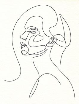 Affiche Style Line Art Femme 4