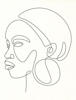 Affiche Style Line Art Femme 7