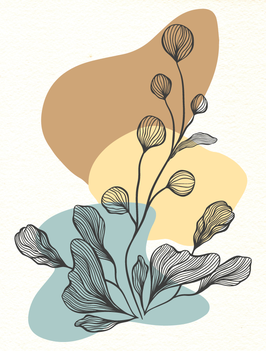 Affiche Style Line Art Vegetal 4