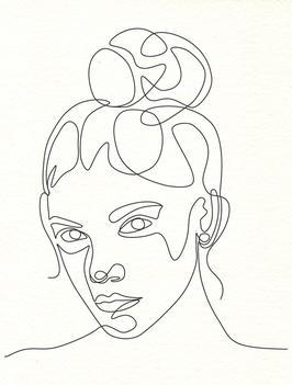 Affiche Style Line Art Femme 6