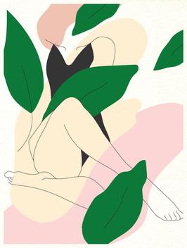 Affiche Style Line Art Femme 12