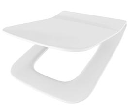 WC Sitz mit Absenkautomatik und Eckig Form / Soft-Close für Element ROCA