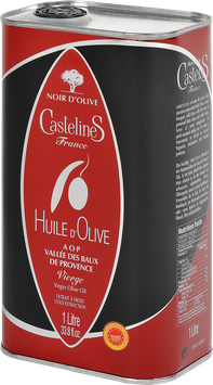 NOIR D'OLIVE  Huile d'olive vierge, AOP Vallée des Baux de Provence