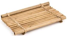 """Porte savon """"radeau"""" en bambou"""