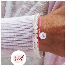 925 Armband in Pink - Schleife - handgefertigt