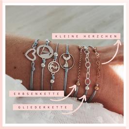 zarte Armbänder Basics mit Kettchen 925 Sterling Silber - perfekt zu jedem Look!