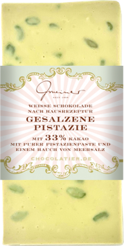 Weiße  Schokolade mit Pistazien & Salz