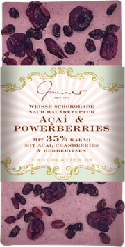 Weisse Schokolade mit Acai & Powerberries