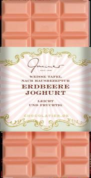 Weiße Schokolade mit  Erdbeeren &  Joghurt