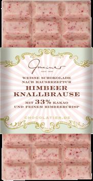 Weiße Schokolade mit Himbeer Knallbrause