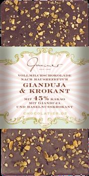Vollmilchschokolade mit Krokant und Gianduja Nougat