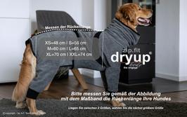 Hundebademantel dryup body zip von Actionfactory