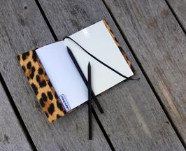 Notizbuch A6 mit Hülle für Kollektion Leopard