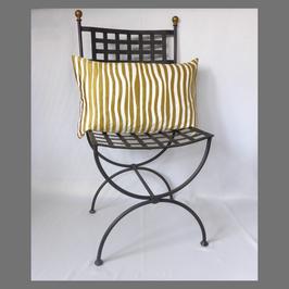 Jacquardkissen ecru/gold mit Glanz 40x60 im Art-Deco-Stil