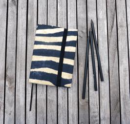 A 6 Notizbuch mit Hülle für Zebra-Kollektion