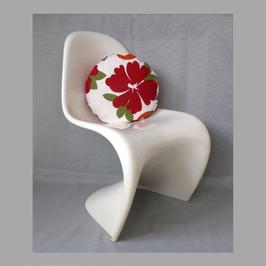 Rundes FlowerPowerKissen Durchmesser 40 cm, orange Rückseite