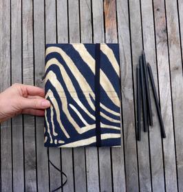 A5 Notizbuch mit Hülle für Zebra-Kollektion