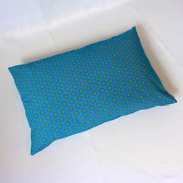 Afrikanische Kreisel / petrolblau 40x60 cm