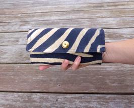 Portemonnaie Zebra mit Fächertaschen und Loxx-Verschluß