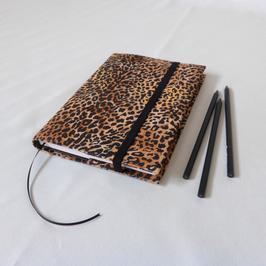 Notizbuch A5 für Taschenkollektion Leopard (kleingemustert)