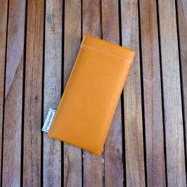 iPhonehülle 6, 7, 8 aus Skai-Lederimitat in mango