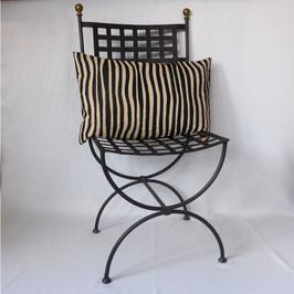 Jacquardkissen hellbraun/schwarz mit Glanz 40x60 im Art-Deco-Stil