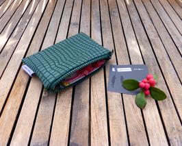 Kleine Geldbörse für Taschenkollektion Python moosgrün