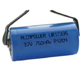 Batteria Li-ION ricaricabile CR123 (17335) 3,7V  750 mAH   con lamelle saldatura ALCAPOWER