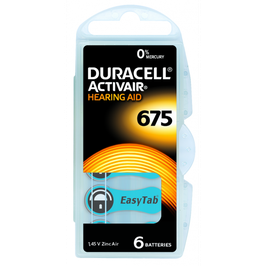 Pile  Duracell Activair  675 PR44  per apparecchi acustici