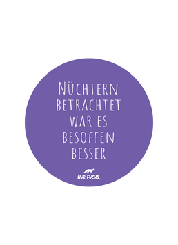 Statement-Sticker klein