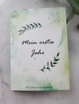 """Baby-Tagebuch """"Mein erstes Jahr - Ein Erinnerungsbuch"""""""