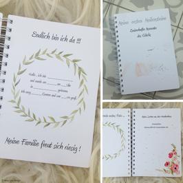 """Baby-Tagebuch """"Meine ersten Meilensteine"""""""