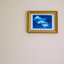 "Große Cyanotypie ""Wolken"""