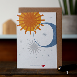 "Klappkarten-Serie ""Sonne Mond Sterne"""