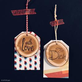 Geschenkanhänger mit Holz