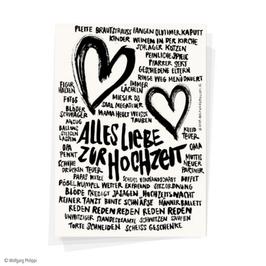 """Postkarte """"Alles Liebe zur Hochzeit"""
