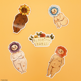 "Sticker ""Blooming Babes"""