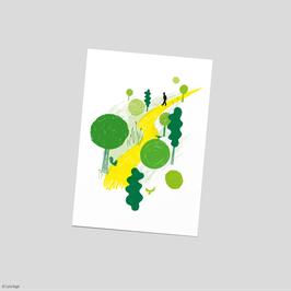 "Postkarte ""Waldspaziergang"""