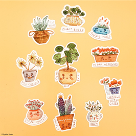 "Sticker ""Potted Plants"""