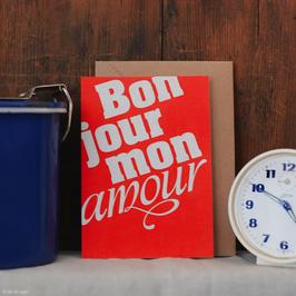 "Postkarte ""Bonjour"""