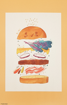 "Druck ""Anatomy of a Burger"""